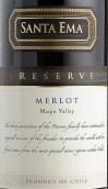 圣艾玛珍藏梅洛干红葡萄酒(Santa Ema Reserve Merlot, Maipo Valley, Chile)
