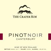火山边缘黑皮诺干红葡萄酒(坎特伯雷)(The Crater Rim Pinot Noir,Canterbury,New Zealand)