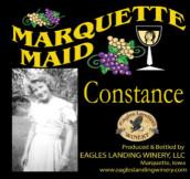 鹰陆马奎特少女康斯坦斯半干型白葡萄酒(Eagles Landing Winery Marquette Maid Constance,Iwoa,USA)