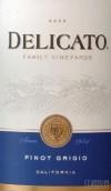 德利卡灰皮诺干白葡萄酒(Delicato Family Vineyards Pinot Grigio,California,USA)