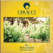 吉拉克奇酒庄瑚珊干白葡萄酒(Giracci Vineyards and Farms Roussanne,Dry Creek Valley,USA)