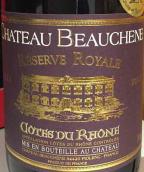 宝尚酒庄皇家珍藏干红葡萄酒(Chateau Beauchene Reserve Royale,Rhone,France)