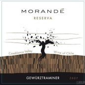 莫任得珍藏琼瑶浆干红葡萄酒(Morande Reserva Gewurztraminer,Casablanca Valley,Chile)