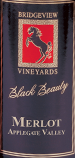 桥景黑骏马梅洛干红葡萄酒(Bridgeview Winery Black Beauty Merlot,Oregon,USA)