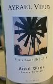 老亚兹拉尔酒庄桑娇维塞桃红葡萄酒(Ayrael Vieux Sangiovese Rose,Sierra Foothills,USA)