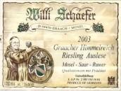 舍费尔格拉齐仙境园雷司令精选白葡萄酒(Weingut Willi Schaefer Graacher Himmelreich Riesling Auslese...)