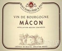 宝尚父子马贡干红葡萄酒(Bouchard Pere&Fils Macon,France)