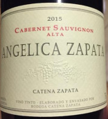 卡氏家族酒庄安洁莉卡阿尔塔赤霞珠干红葡萄酒(Bodega Catena Zapata Angelica Zapata Alta Cabernet Sauvignon, Mendoza, Argentina)