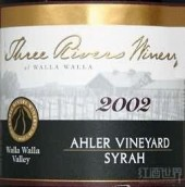 三河酒庄西拉干红葡萄酒(Three Rivers Winery Syrah,Columbia Valley,USA)