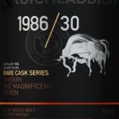 布赫拉迪1986年份30年稀有桶陈苏格兰单一麦芽威士忌(Bruichladdich 1986/30 Rare Cask Series Single Malt Scotch ...)