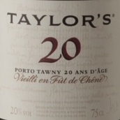 泰勒20年茶色波特酒(Taylor's 20 Year Old Tawny Port, Douro, Portugal)