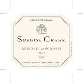 速溪酒庄桑娇维塞桃红葡萄酒(Speedy Creek Winery Rosato Di Sangiovese,Knight Valley,USA)