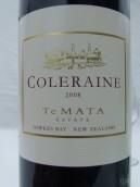 德迈科乐灵干红葡萄酒(Te Mata Estate Coleraine, Hawke's Bay, New Zealand)