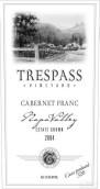Trespass Vineyards Estate Grown St Helena Cabernet Franc,...