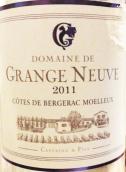 康史奈夫贝尔热拉克山甜白葡萄酒(Domaine de Grange Neuve,Cotes de Bergerac,France)