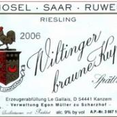 伊贡米勒嘉莱威廷格金瓶封雷司令精选白葡萄酒(Egon Muller-Scharzhof Le Gallais Wiltinger Braune Kupp ...)
