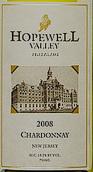 霍普韦尔谷酒庄霞多丽干白葡萄酒(Hopewell Valley Vineyards Chardonnay,New Jersey,USA)