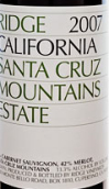 山脊酒庄干红葡萄酒(Ridge Estate Red, Santa Cruz Mountains, USA)