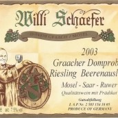 舍费尔格拉齐多普斯特园雷司令逐粒精选甜白葡萄酒(Weingut Willi Schaefer Graacher Domprobst Riesling ...)