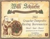 舍费尔格拉齐多普斯特园雷司令逐粒精选甜白葡萄酒(Weingut Willi Schaefer Graacher Domprobst Riesling Beerenauslese, Mosel, Germany)