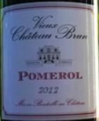 布朗古堡干红葡萄酒(Vieux Chateau Brun, Pomerol, France)