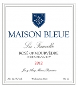 "蓝色""家庭""慕合怀特桃红葡萄酒(Maison Bleue La Famille Rose of Mourvedre,Columbia Valley, USA)"