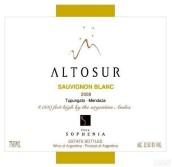 索非亚阿图索长相思干白葡萄酒(Finca Sophenia Altosur Sauvignon Blanc, Tupungato, Argentina)