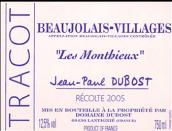 保罗迪博酒庄楚卡园梦提干红葡萄酒(Domaine Jean-Paul Dubost Beaujolais Villages Tracot Les ...)