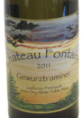 方丹酒庄琼瑶浆干白葡萄酒(Chateau Fontaine Gewurztraminer,Michigan,USA)