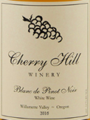 樱丘酒庄黑皮诺干白葡萄酒(Cherry Hill Winery Blanc de Pinot Noir,Willamette Valley,USA)
