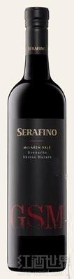 六翼天使歌海娜西拉慕合怀特干红葡萄酒(Serafino Grenache-Shiraz-Mataro,McLaren Vale,Australia)