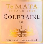 德迈科乐灵红葡萄酒(Te Mata Estate Coleraine, Hawke's Bay, New Zealand)
