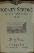 罗德尼斯特朗结藤仙粉黛红葡萄酒(Rodney Strong Knotty Vines Zinfandel, Northern Sonoma, USA)