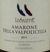 萨莱特酒庄玛瑞嘉阿玛罗尼经典红葡萄酒(Le Salette Amarone Della Valpolicella Classico La Marega ...)