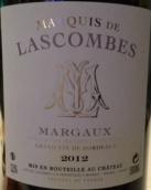 拉斯孔布侯爵酒庄干红葡萄酒(Marquis De Lascombes, Margaux, France)