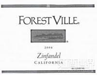 福雷斯特维尔仙粉黛桃红葡萄酒(ForestVille White Zinfandel,California,USA)