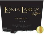 长丘狂想曲西拉品丽珠混酿干红葡萄酒(Loma Larga Rapsodia,Casablanca Valley,Chile)