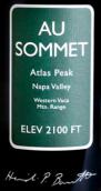 奥索梅酒庄赤霞珠红葡萄酒(Au Sommet Cabernet Sauvignon, Napa Valley, USA)