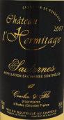 隐士苏玳甜白葡萄酒(hateauL'Hermitage Sauternes,Sauternes,France)