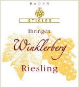 施蒂格勒依瑞恩温克乐堡二号桶雷司令干型小房酒(Weingut Stigler Ihringen Winklerberg Riesling Kabinett F2 trocken, Baden, Germany)