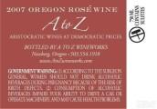 A-Z桃红葡萄酒(A to Z Rose,Oregon,USA)