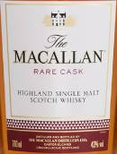 麦卡伦珍稀桶陈苏格兰单一麦芽威士忌(The Macallan Rare Cask Single Malt Scotch Whisky,Highlands,...)