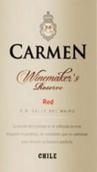 卡门酿酒师珍藏干红葡萄酒(Carmen Winemaker's Reserve Red,Maipo Valley,Chile)