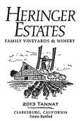 海瑞歌酒庄丹娜干红葡萄酒(Heringer Estates Tannat,Clarksburg,USA)
