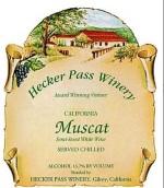赫克帕斯麝香甜白葡萄酒(Hecker Pass Muscat,California,USA)