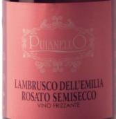 普亚莱洛蓝布鲁斯科半干型桃红葡萄酒(Cantina Puianello Lambrusco dell'Emilia Rosato Semisecco,...)