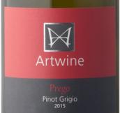 艺术酒庄普利哥灰皮诺白葡萄酒(ArtWine Prego Pinot Grigio, Clare Valley, Australia)