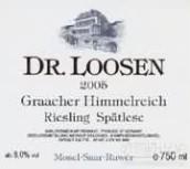 露森格拉齐仙境园雷司令迟摘白葡萄酒(Dr. Loosen Graacher Himmelreich Riesling Spatlese, Mosel, Germany)