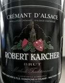 卡尔谢父子酒庄阿尔萨斯传统法起泡酒(Domaine Robert Karcher et Fils Cremant d'Alsace Methode ...)
