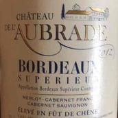 奥班德酒庄红葡萄酒(Chateau de l'Aubrade,Bordeaux Superieur,France)